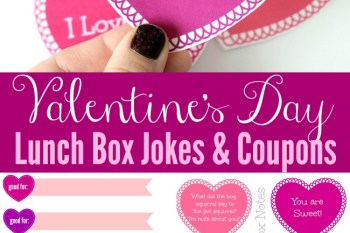 Printable Valentine's Day Lunch Box Jokes & Coupons
