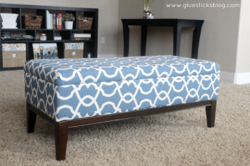 DIY: How To Reupholster a Storage Ottoman
