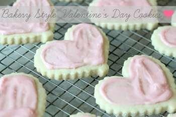 Bakery Style Valentine's Sugar Cookies
