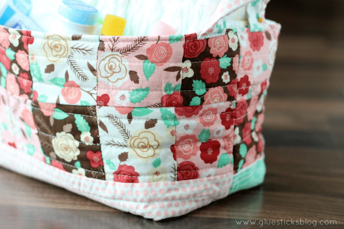 easy fabric basket tutorial