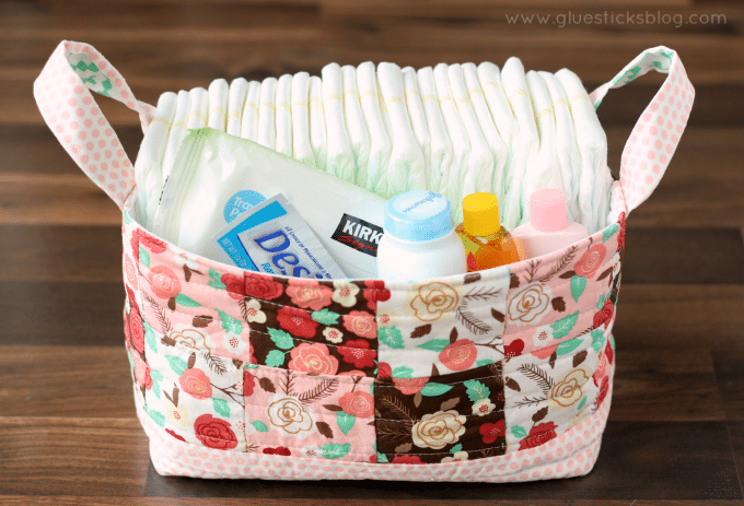 DIY Fabric Basket is a Great Way to Use Up Fabric Scraps