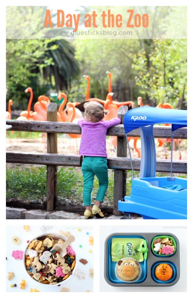"Heading to the zoo with the under 5 crowd? Here are some fun preschool activity ideas! A fun ""At the Zoo"" picture scavenger hunt, snack ideas, tips for packing a cute and easy lunch and more!"