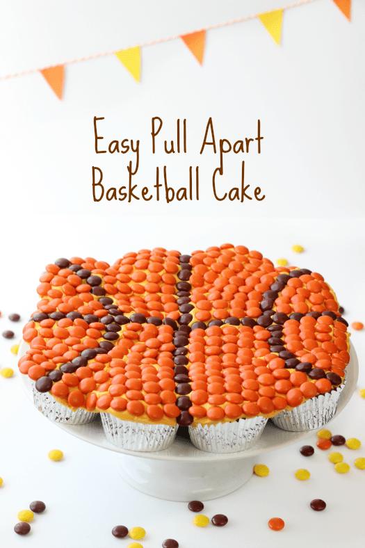 Easy Pull Apart Basketball Cake