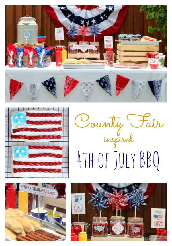 County Fair Inspired 4th of July BBQ