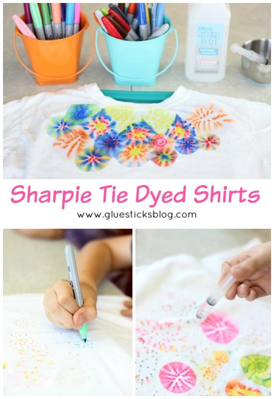 sharpie tie dye