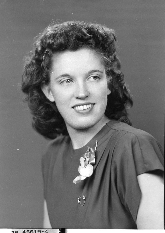 black and white picture of author's grandmother