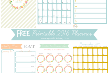 Free Printable 2016 Planner