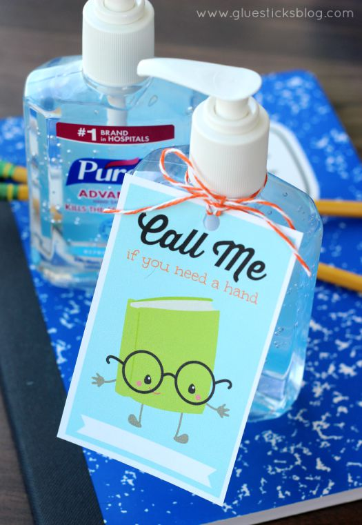 Hand Sanitizer Printable for Teacher
