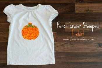 Pencil Eraser Stamped T-Shirt {Halloween}