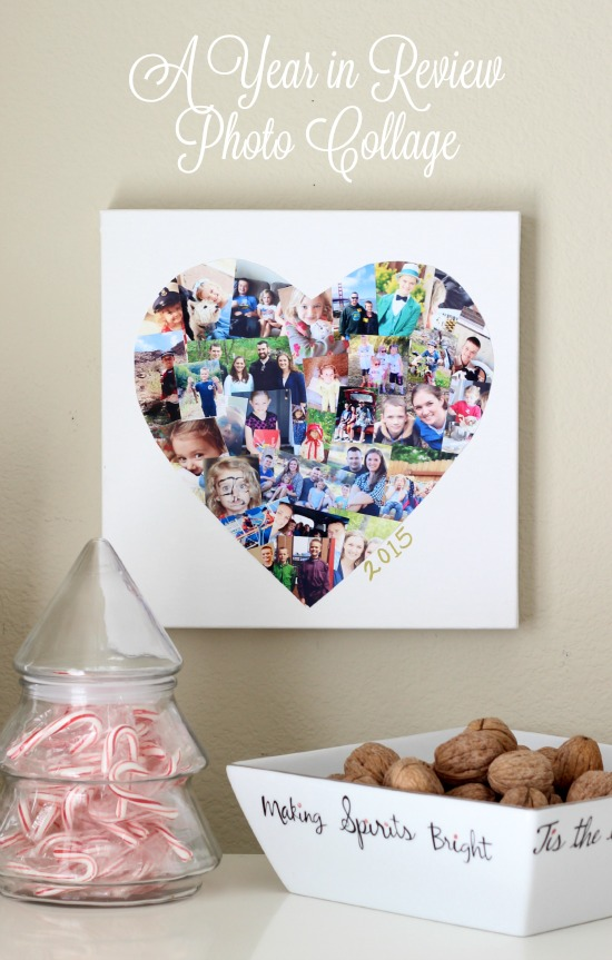 Diy Photo Collage Canvas Make One To Document Each Year