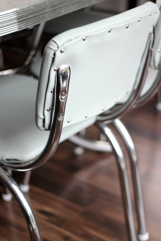 How to reupholster vintage diner chairs, step by step! A labor of love and a simple way to preserve this 60-year-old family heirloom.
