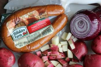 Seasoned Potatoes With Kielbasa