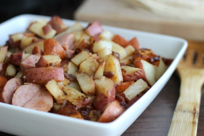 Seasoned Potatoes & Keilbasa
