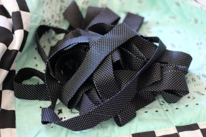 homemade quilt binding
