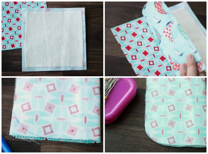 4 step collage for sunglasses case sewing tutorial