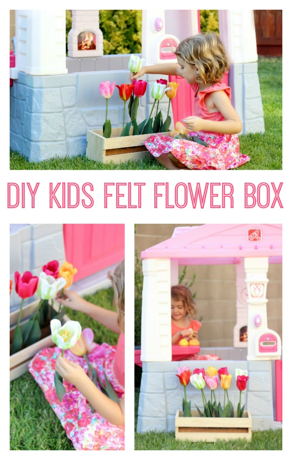 Make a felt flower box for kidsfor imaginative play! Kids can plant, pick, and re-plant their beautiful flowers over and over again!