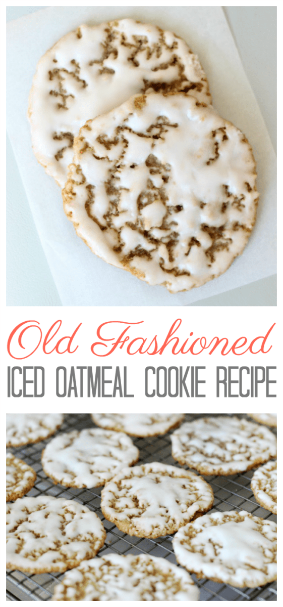 Old fashioned iced oatmeal cookies are the perfect after-school treat with a glass of milk. Use our iced oatmeal cookies recipe to create crispy and chewy cookies that are dipped in a creamy vanilla icing. This recipe can be used for ice cream sandwich cookies too!