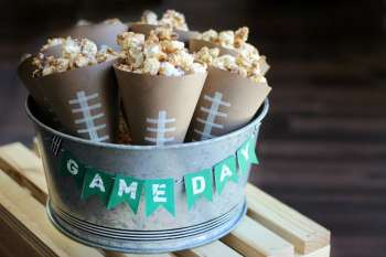 Game Day Chocolate Caramel Popcorn