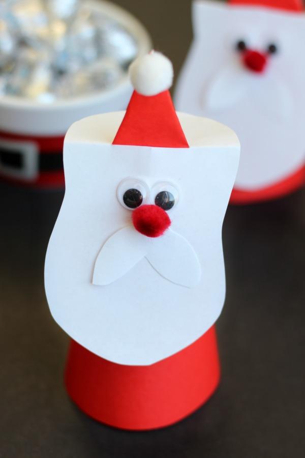 Paper Cone Santas