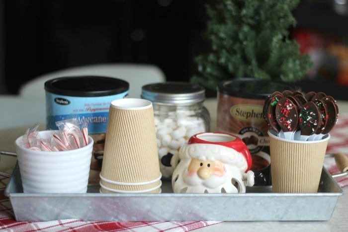 Santa's Hot Cocoa Bar Centerpiece