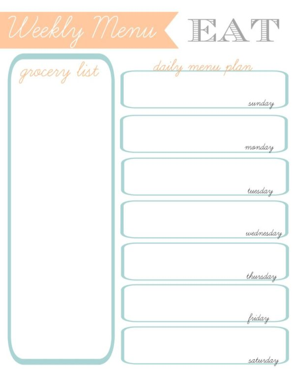 Planner pages to keep your every day tasks in order. Monthly calendar pages, menu planner, grocery list, weekly planning pages and MORE!