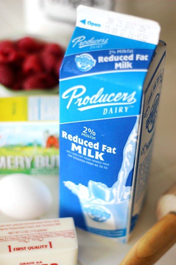 ingredients for scones butter milk egg