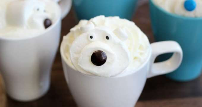 White Hot Chocolate Recipe With Polar Bear Marshmallows