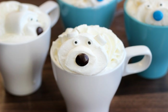white hot chocolate with polar bear marshmallows recipes
