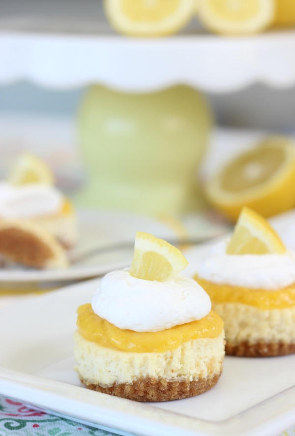 This homemade lemon curd cheesecake recipe has a sweet NILLA Wafers crust and a creamy cheesecake filling. Topped with a homemade lemon curd, and whipped cream.The perfect combination of sweet and tangy, they are little in size, but huge in flavor!