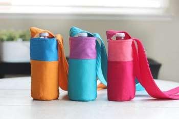 Color Block Fabric Water Bottle Tutorial