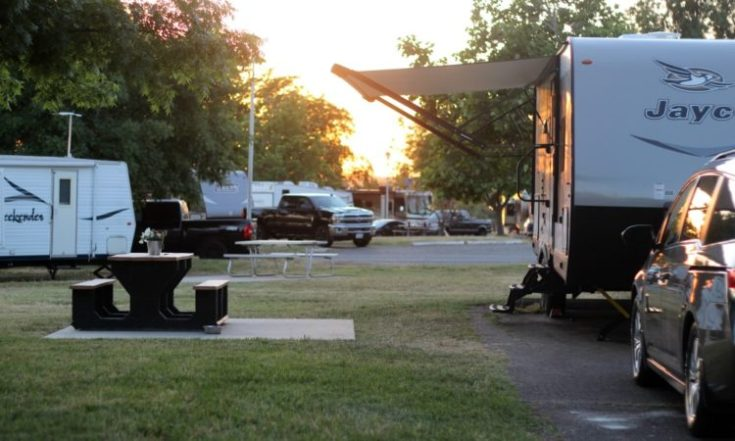 rv in rv campground