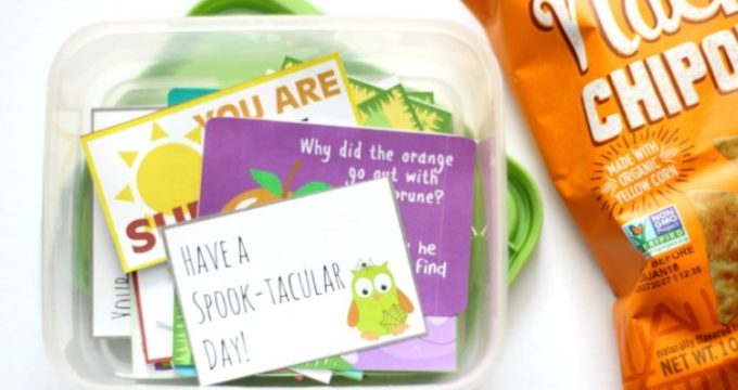 A Year of Printable Lunch Box Notes & Jokes