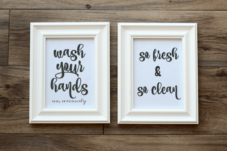Bathroom Wall Art Free Printables to Easily Print and Hang