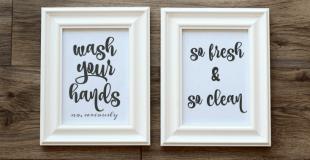 Bathroom Wall Art Printables