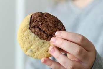 Black & White Chocolate Chip Cookies