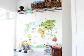 Tiny And Tidy Closet Nursery Organization for Baby