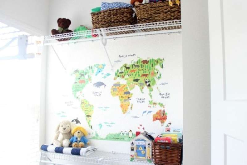 What do you do when you don't have a spare room for baby? Use a closet! This tidy and tiny closet uses every space for maximized nursery organization.