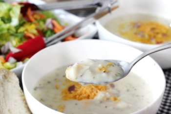 Cozy Soup and Salad for Two