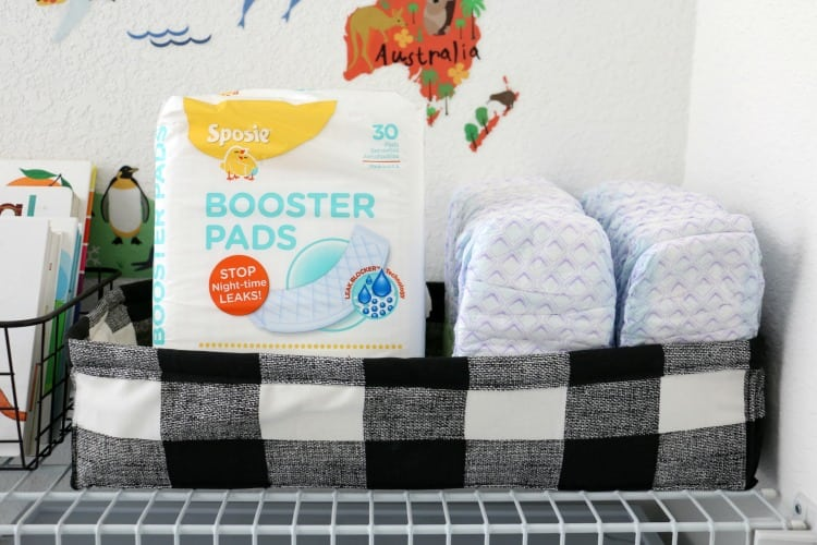 These DIY fabric baskets are perfect for nursery storage for diapers, wipes, toys, and books! Would also be great as storage in an office or even used as gift baskets!