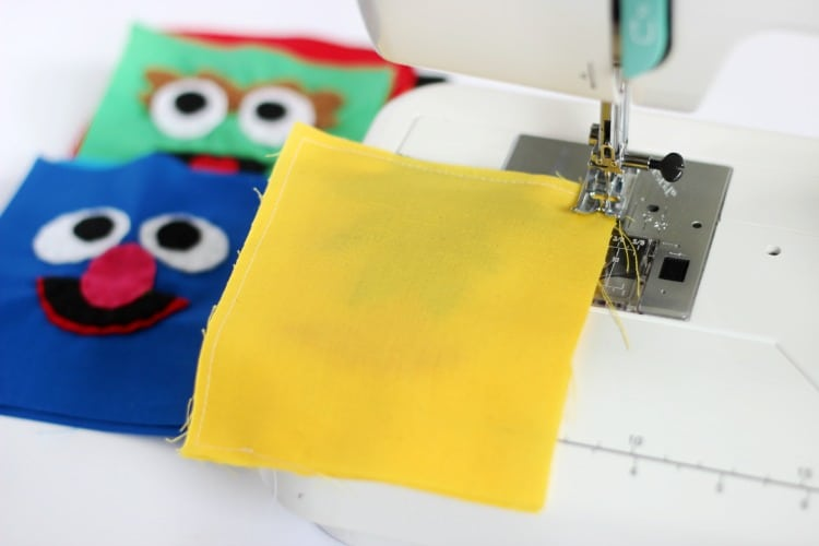 A simple pattern for DIY Sesame Street softies, rice packs, or bean bags! This easy to follow tutorial can even be enlarged and used to make a Sesame Street character pillow. Elmo, Bert, Ernie, Cookie Monster, Oscar the Grouch, and Grover. Who is your favorite?