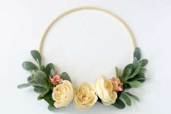 Spring Floral Hoop Wreath Tutorial