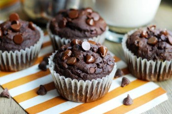 Chocolate Pumpkin Muffins Are Delicious & Decadent