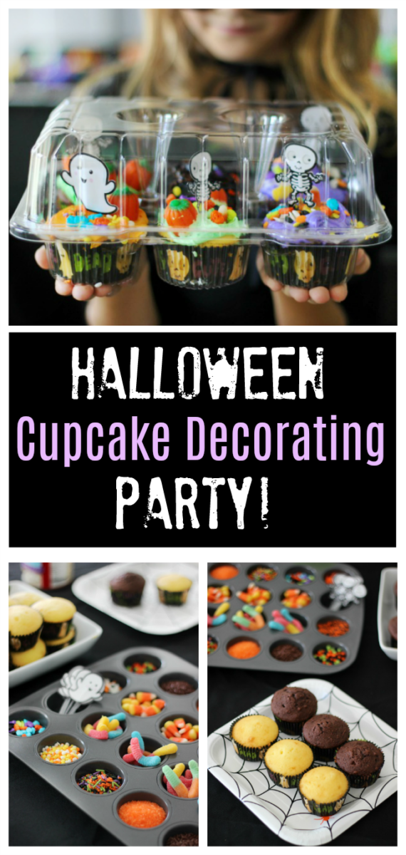 Kids will love this Halloween cupcake decorating party. Everyone goes home with their own package of cupcakes to share with their family!