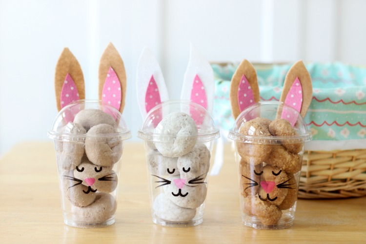 finished bunny treat cups in three flavors