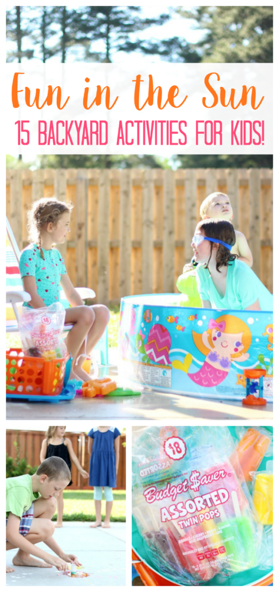 You don't need a fancy backyard to create an environment of fun, imaginative play! Here are 15 backyard activities for an entire summer of fun in the sun!