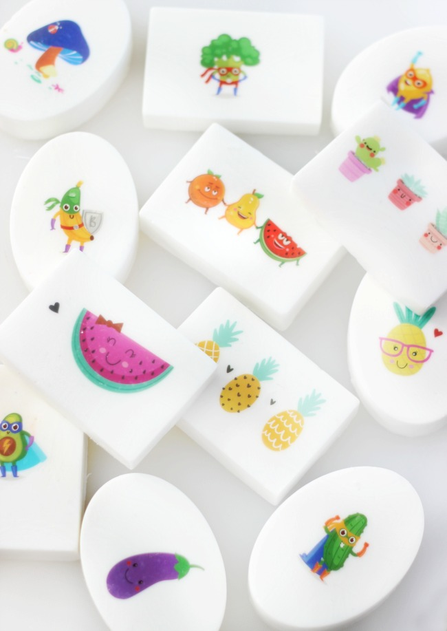 bars of tattoo soap displayed on white background