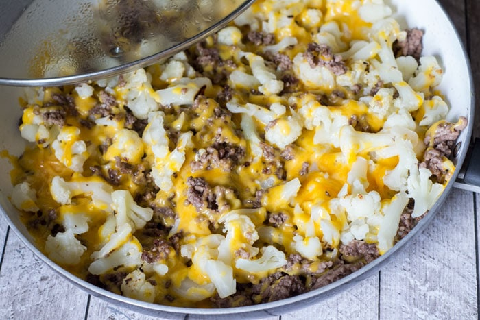 Cauliflower And Ground Beef Hash Low Carb Recipe Glue
