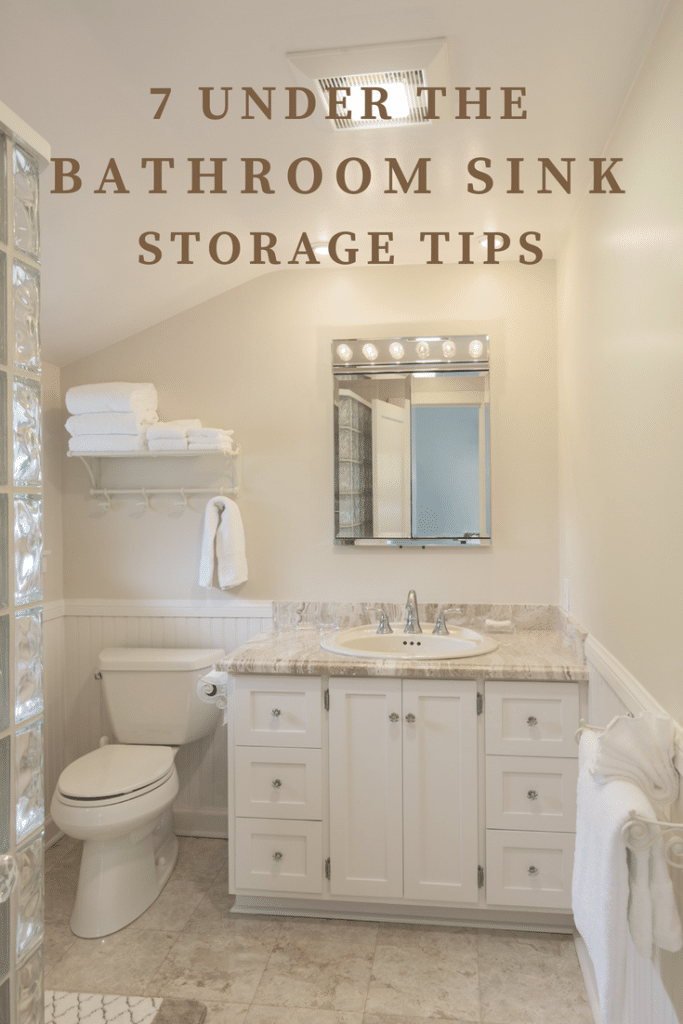 under bathroom sink storage and