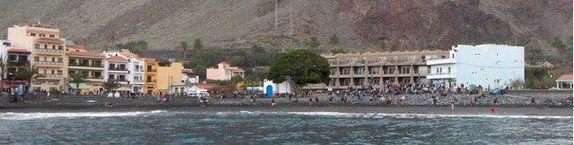 Musiker und Artisten am Strand von Valle Gran Rey auf La Gomera
