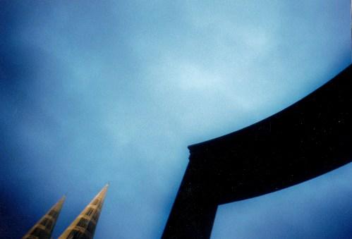 Turmspitzen Unter St. Clemens, aus den Clemens-Galerien herause